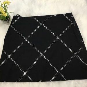 Izod Black & Polka Dot Golf Tennis Skort Size 4